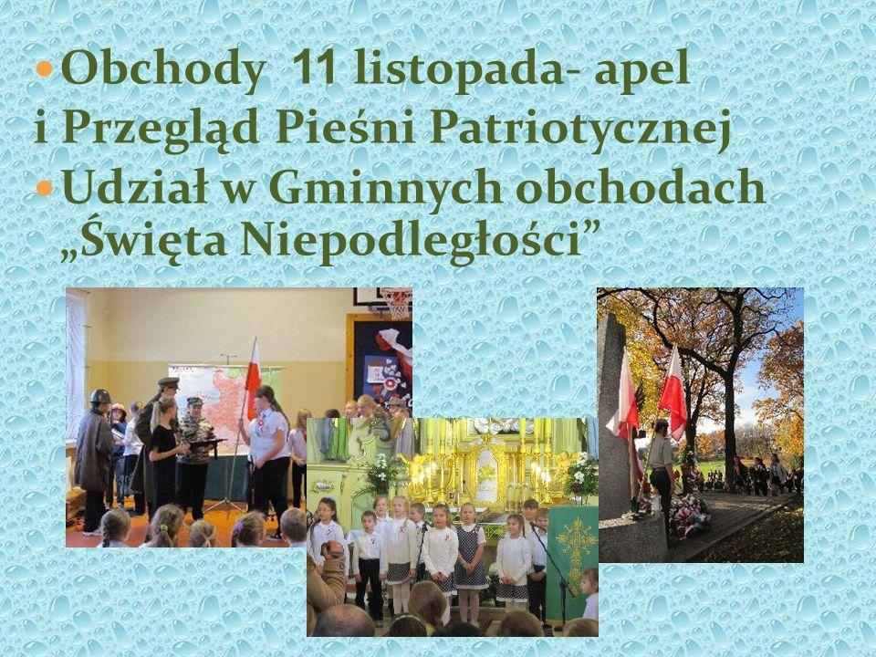 Obchody 11 listopada- apel i Przegląd Pieśni Patriotycznej Udział w Gminnych obchodach Święta Niepodległości