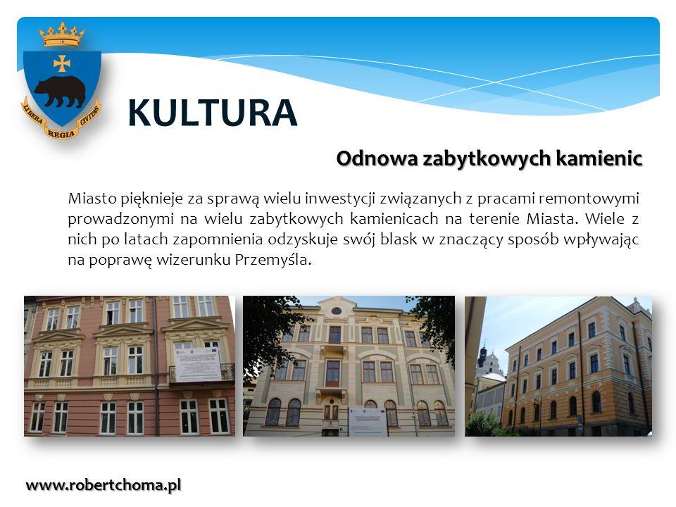 KULTURA www.robertchoma.pl Odnowa zabytkowych kamienic Miasto pięknieje za sprawą wielu inwestycji związanych z pracami remontowymi prowadzonymi na wi