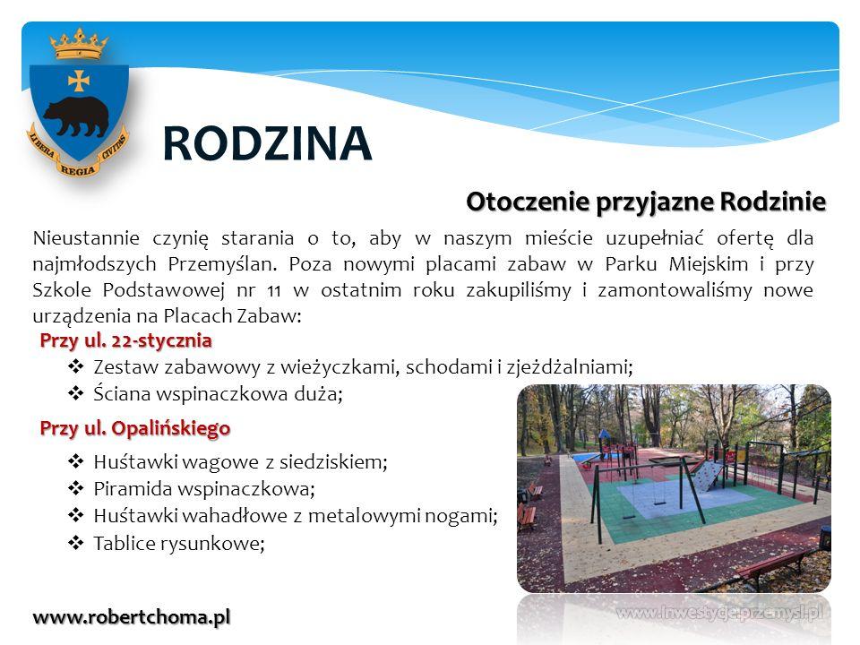 RODZINA www.robertchoma.pl Otoczenie przyjazne Rodzinie Nieustannie czynię starania o to, aby w naszym mieście uzupełniać ofertę dla najmłodszych Prze