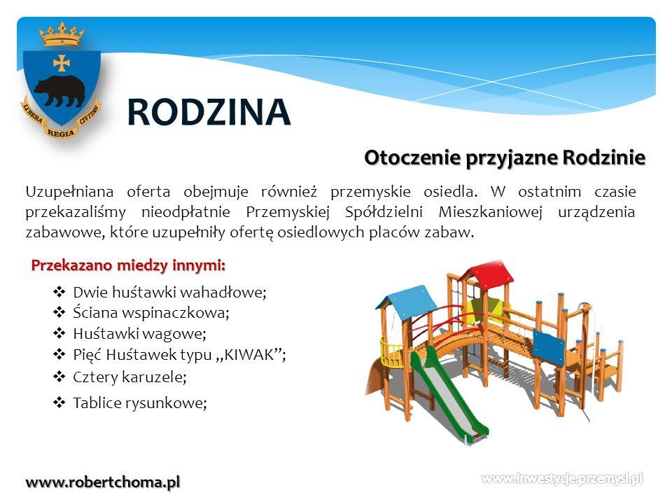 RODZINA www.robertchoma.pl Otoczenie przyjazne Rodzinie Uzupełniana oferta obejmuje również przemyskie osiedla. W ostatnim czasie przekazaliśmy nieodp