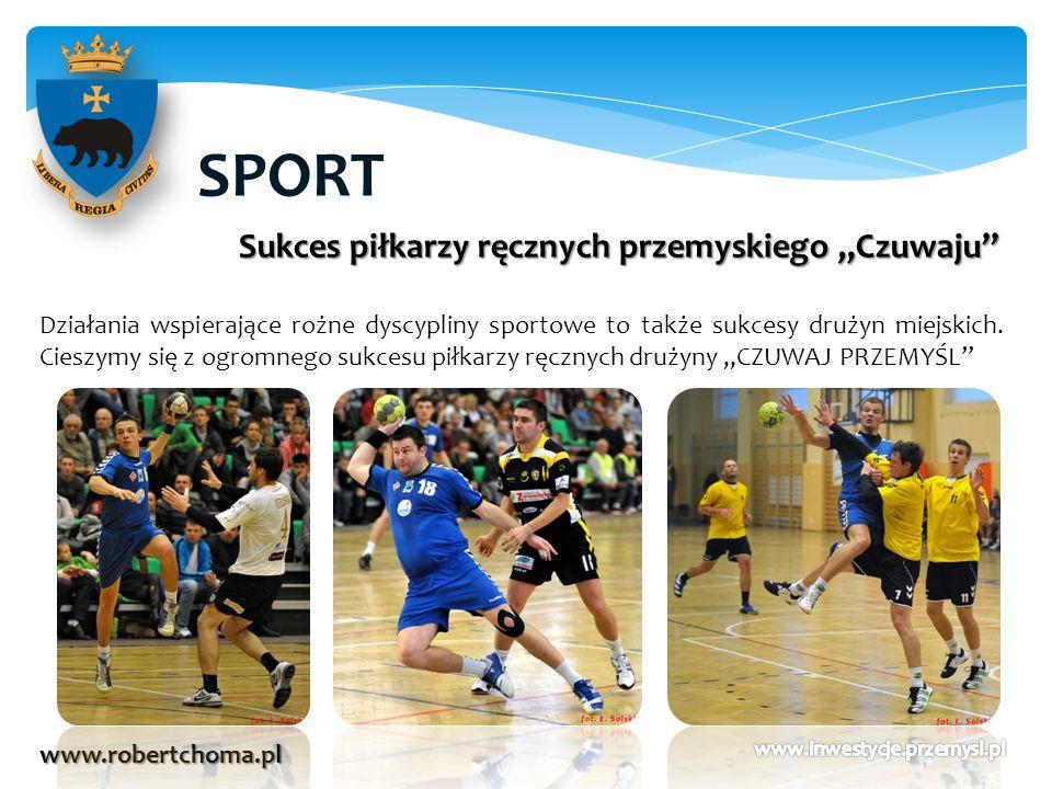 SPORT www.robertchoma.pl Sukces piłkarzy ręcznych przemyskiego Czuwaju Działania wspierające rożne dyscypliny sportowe to także sukcesy drużyn miejski