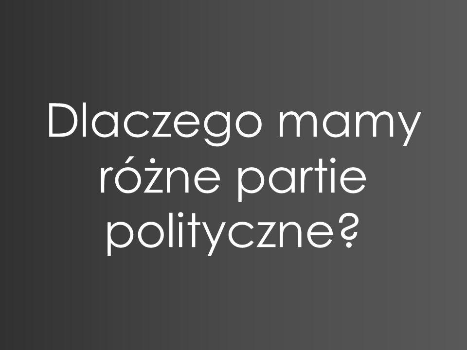 Dlaczego mamy różne partie polityczne?