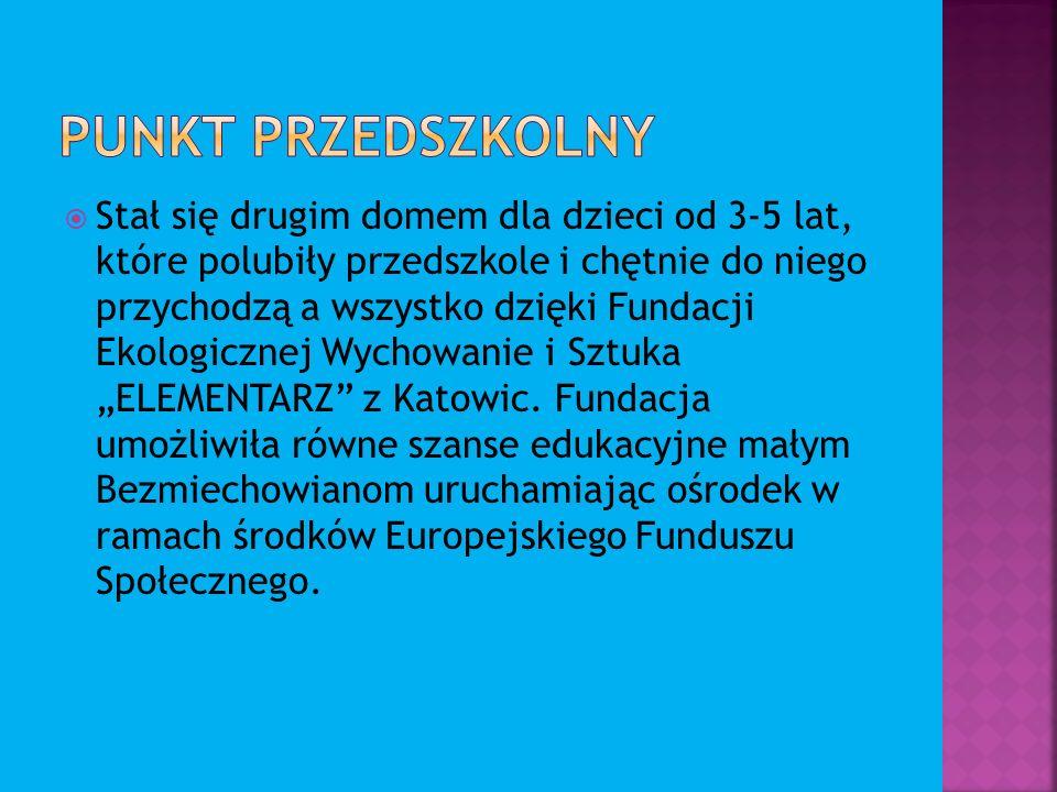 Stał się drugim domem dla dzieci od 3-5 lat, które polubiły przedszkole i chętnie do niego przychodzą a wszystko dzięki Fundacji Ekologicznej Wychowanie i Sztuka ELEMENTARZ z Katowic.