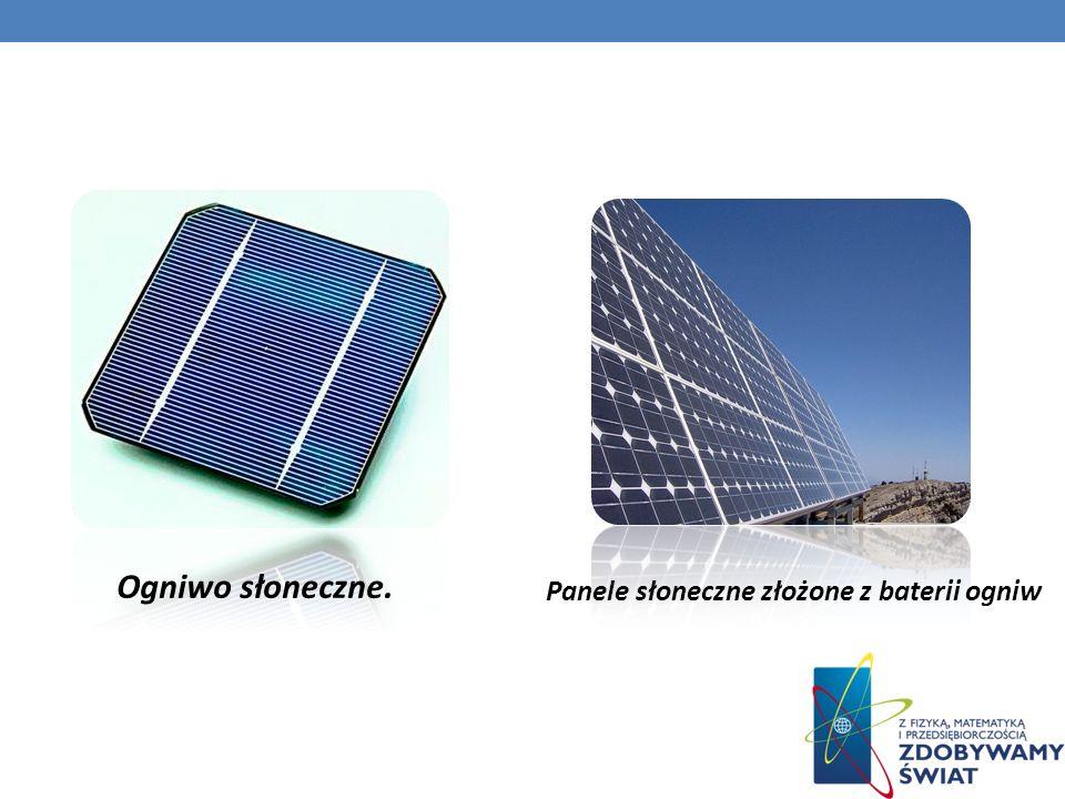 Ogniwo słoneczne. Panele słoneczne złożone z baterii ogniw