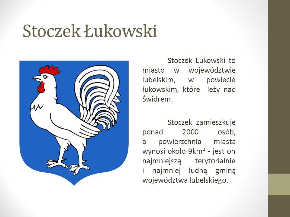 Stoczek Łukowski to miasto w województwie lubelskim, w powiecie łukowskim, które leży nad Świdrem. Stoczek zamieszkuje ponad 2000 osób, a powierzchnia