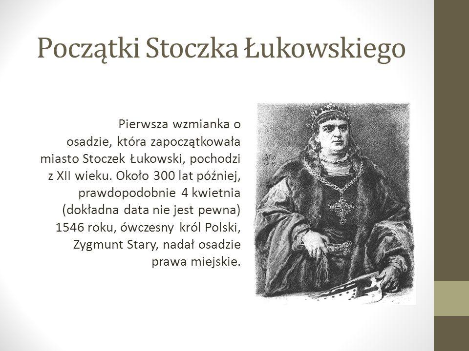 Początki Stoczka Łukowskiego Pierwsza wzmianka o osadzie, która zapoczątkowała miasto Stoczek Łukowski, pochodzi z XII wieku. Około 300 lat później, p