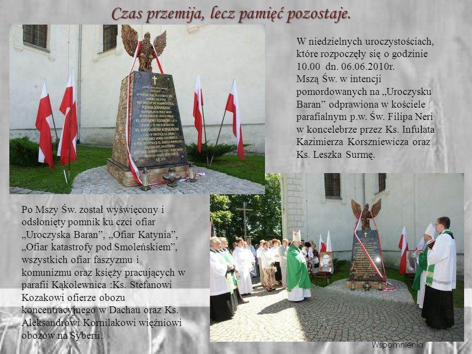 Msza żałobna upamiętniająca tragedię pod Smoleńskiem Mieszkańcy gminy Kąkolewnica 16 kwietnia 2010r.