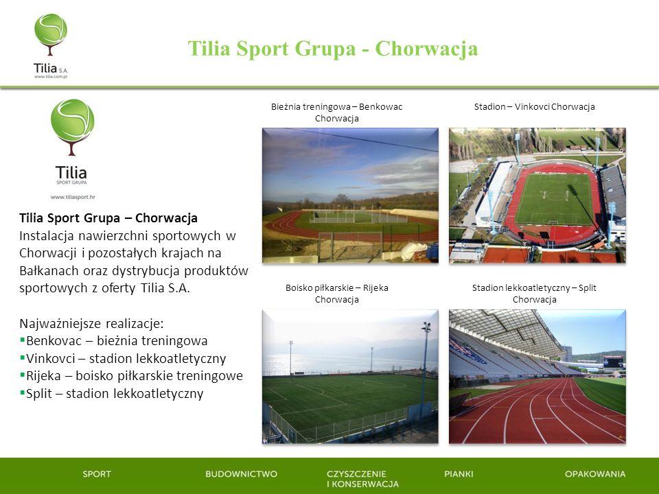 Tilia Sport Grupa - Chorwacja Tilia Sport Grupa – Chorwacja Instalacja nawierzchni sportowych w Chorwacji i pozostałych krajach na Bałkanach oraz dyst