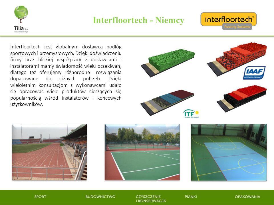 Interfloortech - Niemcy Interfloortech jest globalnym dostawcą podłóg sportowych i przemysłowych. Dzięki doświadczeniu firmy oraz bliskiej współpracy