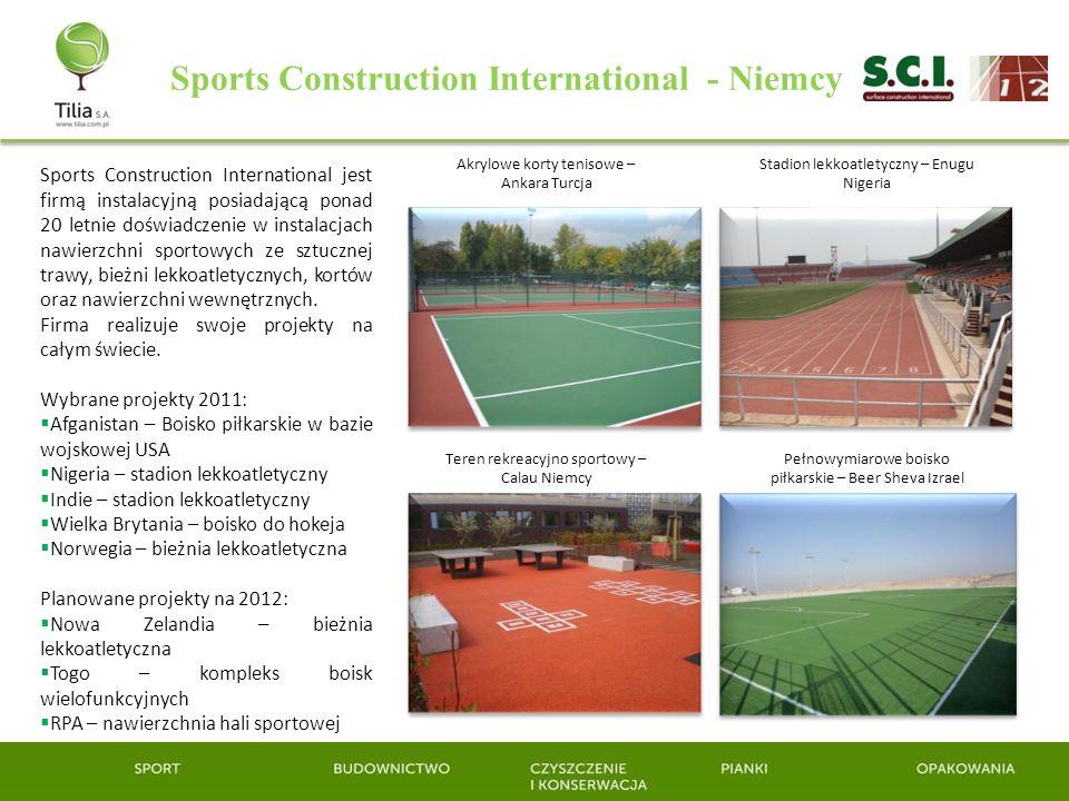 Sports Construction International - Niemcy Sports Construction International jest firmą instalacyjną posiadającą ponad 20 letnie doświadczenie w insta