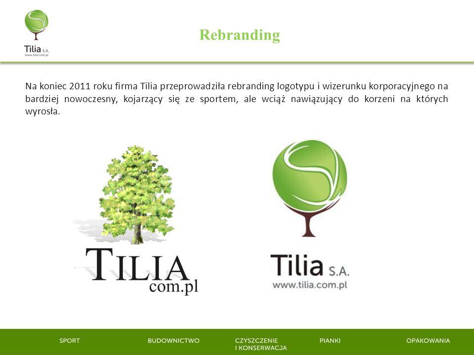 Rebranding Na koniec 2011 roku firma Tilia przeprowadziła rebranding logotypu i wizerunku korporacyjnego na bardziej nowoczesny, kojarzący się ze spor
