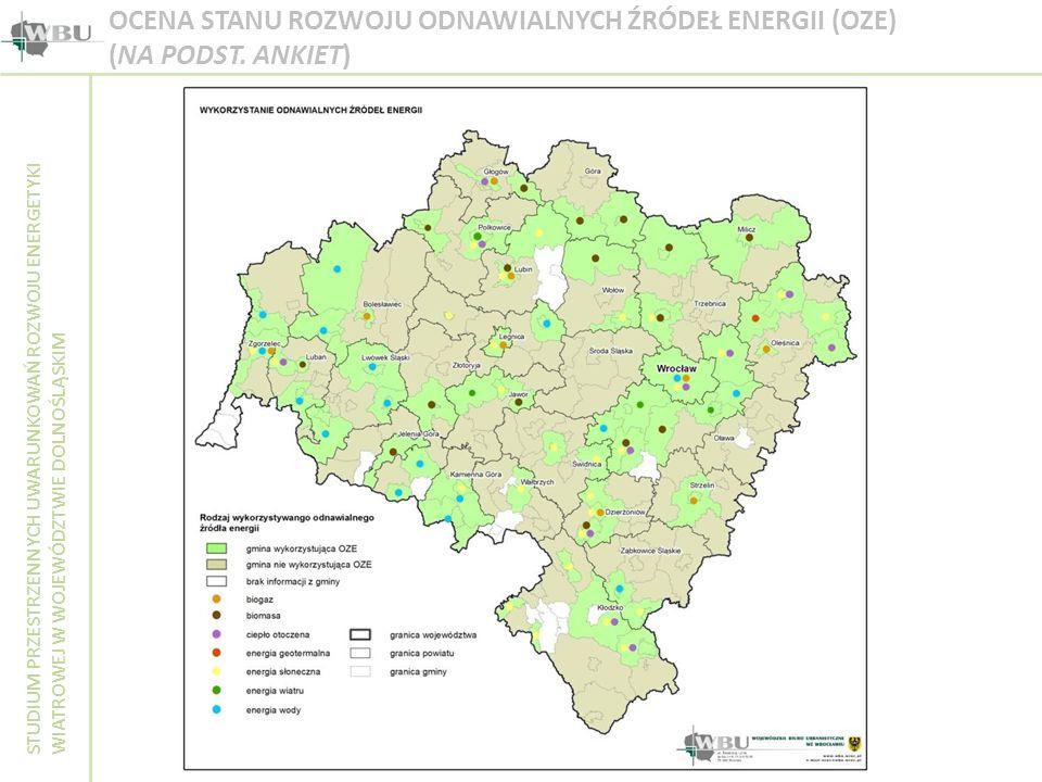 STUDIUM PRZESTRZENNYCH UWARUNKOWAŃ ROZWOJU ENERGETYKI WIATROWEJ W WOJEWÓDZTWIE DOLNOŚLĄSKIM OCENA STANU ROZWOJU ODNAWIALNYCH ŹRÓDEŁ ENERGII (OZE) (NA