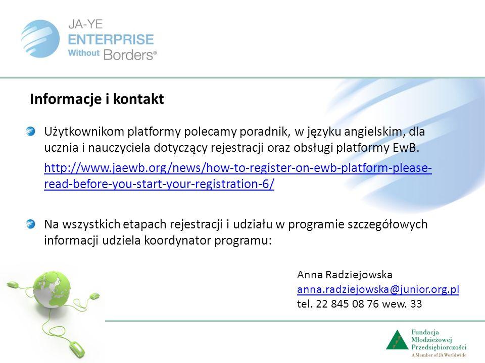 Użytkownikom platformy polecamy poradnik, w języku angielskim, dla ucznia i nauczyciela dotyczący rejestracji oraz obsługi platformy EwB.