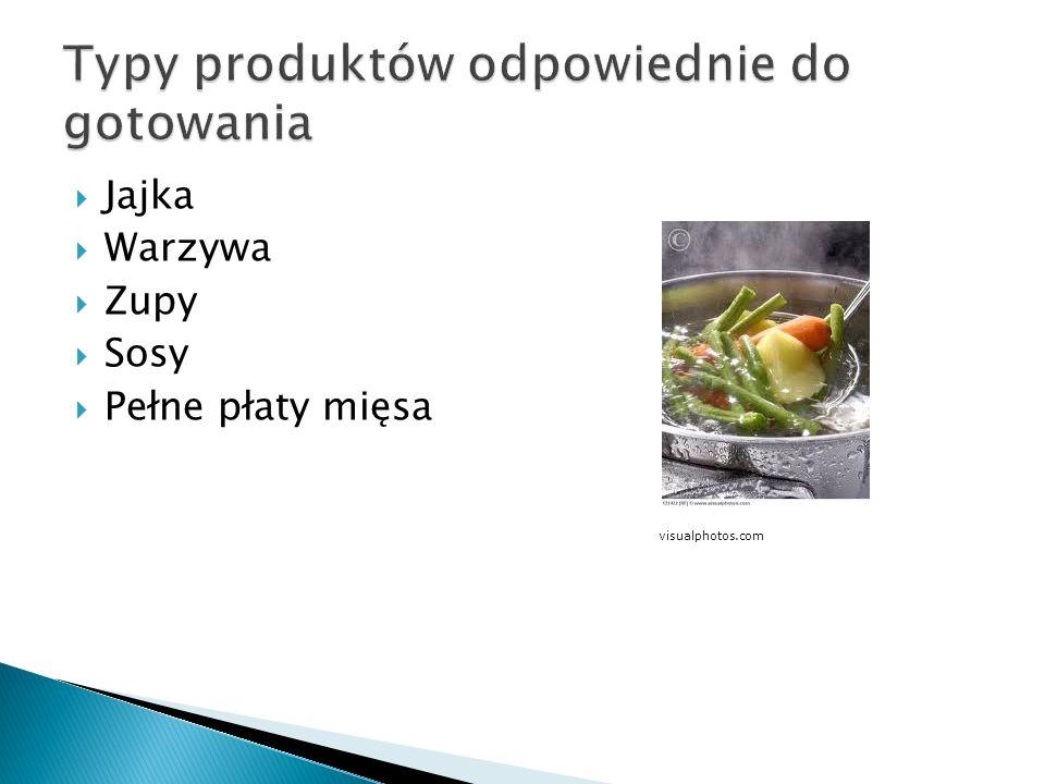 Jajka Warzywa Zupy Sosy Pełne płaty mięsa visualphotos.com