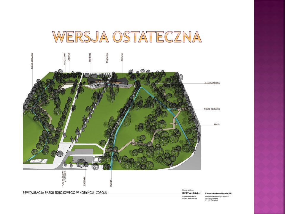 Przedmiotem inwestycji jest rewitalizacja Parku Zdrojowego w Horyńcu- Zdroju usytuowanego w kwartale ograniczonym przez ul.