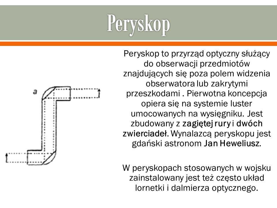 Peryskop to przyrząd optyczny służący do obserwacji przedmiotów znajdujących się poza polem widzenia obserwatora lub zakrytymi przeszkodami. Pierwotna