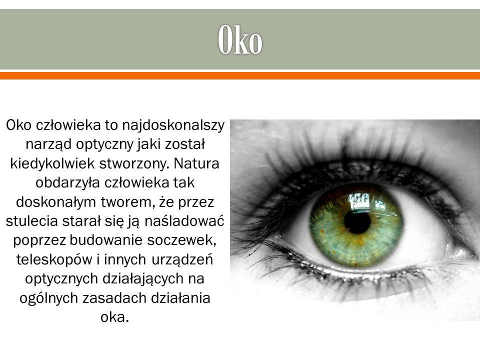Oko człowieka to najdoskonalszy narząd optyczny jaki został kiedykolwiek stworzony. Natura obdarzyła człowieka tak doskonałym tworem, że przez stuleci