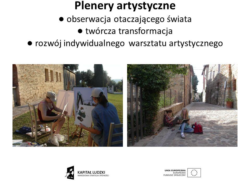Plenery artystyczne obserwacja otaczającego świata twórcza transformacja rozwój indywidualnego warsztatu artystycznego