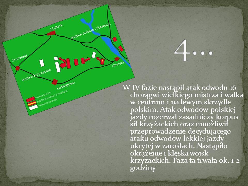 III faza bitwy powstała, kiedy jazda krzyżacka odepchnęła w zażartej walce wojska litewskie (40 chorągwi) pod wodzą wielkiego księcia Witolda w kierun