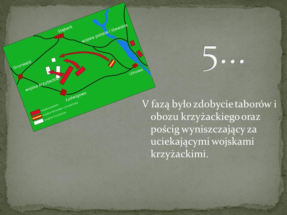 W IV fazie nastąpił atak odwodu 16 chorągwi wielkiego mistrza i walka w centrum i na lewym skrzydle polskim. Atak odwodów polskiej jazdy rozerwał zasa