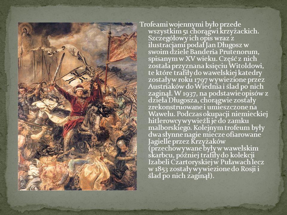 Wynik bitwy miał zasadniczy wpływ na stosunki polityczne w ówczesnej Europie. Nie tylko załamał potęgę zakonu, ale również wyniósł dynastię jagiellońs