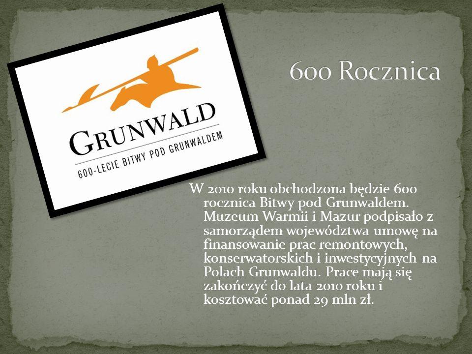 W 550. rocznicę bitwy odsłonięto Pomnik Zwycięstwa Grunwaldzkiego, składający się z 3 części: granitowego obelisku, jedenastu 30-metrowych masztów sym