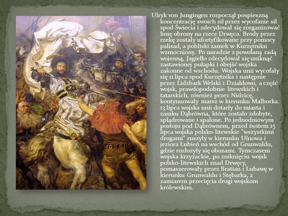 30 czerwca 1410 roku wojska z Wielkopolski i Małopolski przekroczyły Wisłę pod Czerwińskiem po moście pontonowym i 2 lipca połączyły się z siłami z Ma