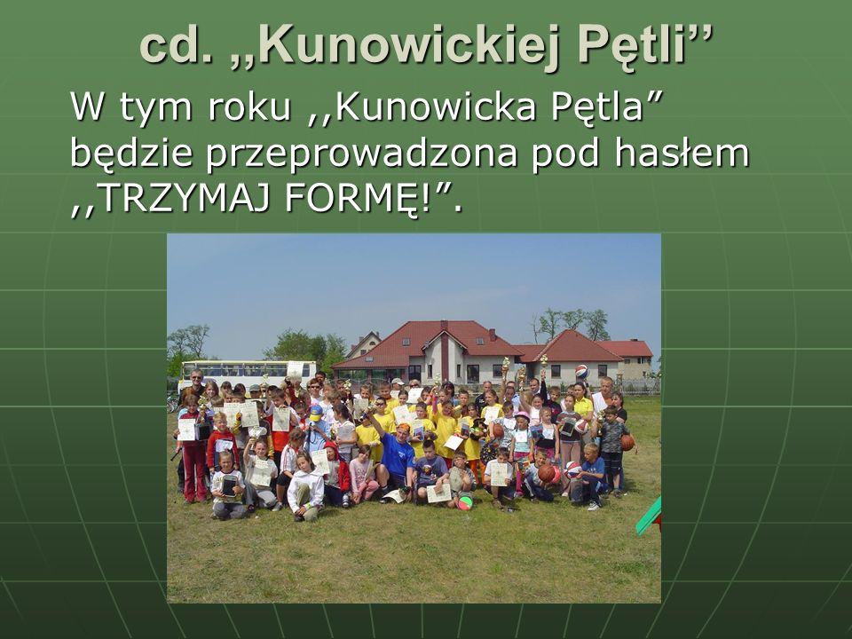 cd.,,Kunowickiej Pętli W tym roku,,Kunowicka Pętla będzie przeprowadzona pod hasłem,,TRZYMAJ FORMĘ!.