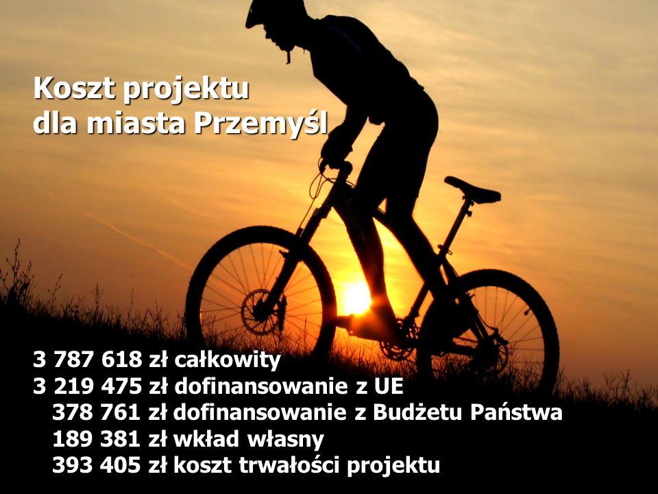 Koszt projektu dla miasta Przemyśl 3 787 618 zł całkowity 3 219 475 zł dofinansowanie z UE 378 761 zł dofinansowanie z Budżetu Państwa 189 381 zł wkła