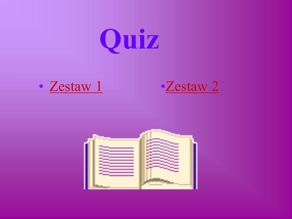 Quiz Zestaw 1Zestaw 2