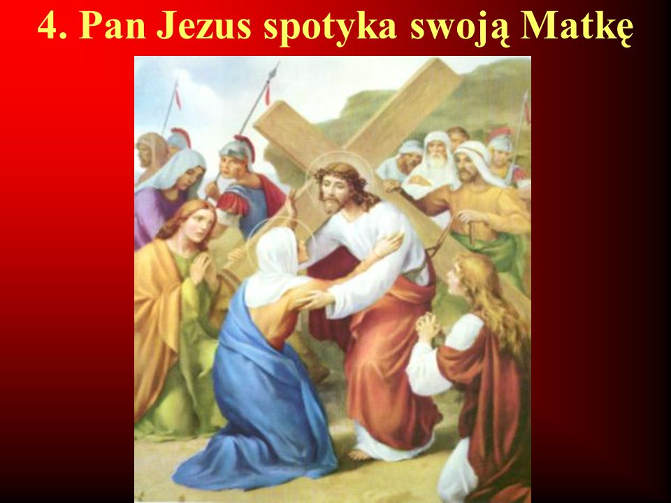 5. Szymon z Cyreny pomaga dźwigać krzyż Panu Jezusowi