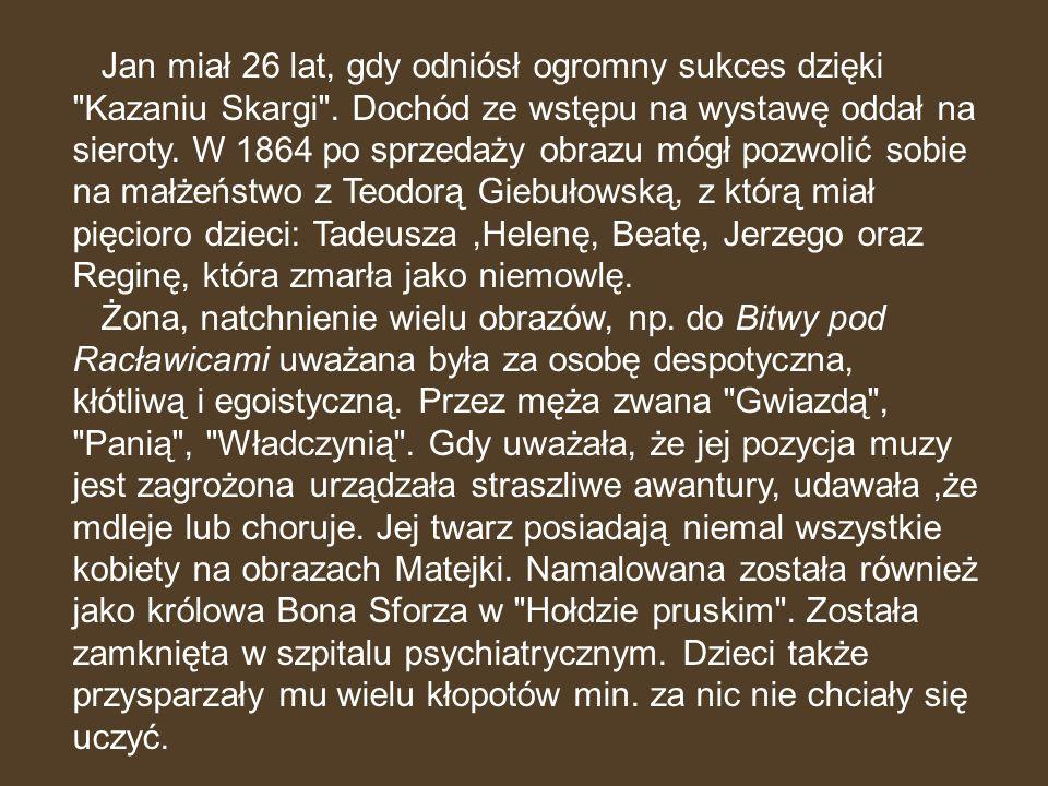 Poczet królów i książąt polskich powstał u schyłku życia Jana Matejki na zamówienie wiedeńskiego wydawcy Maurycego Perlesa.