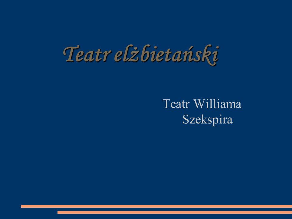 Teatr elżbietański Teatr Williama Szekspira
