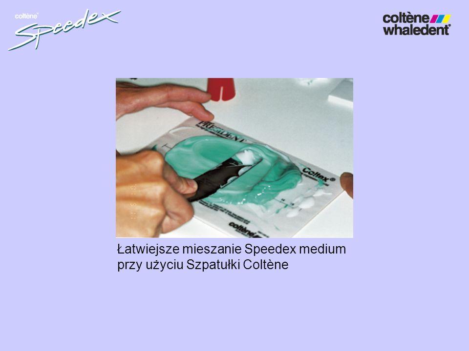 Łatwiejsze mieszanie Speedex medium przy użyciu Szpatułki Coltène