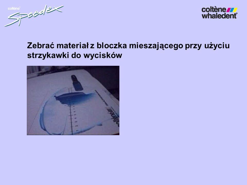 Zebrać materiał z bloczka mieszającego przy użyciu strzykawki do wycisków