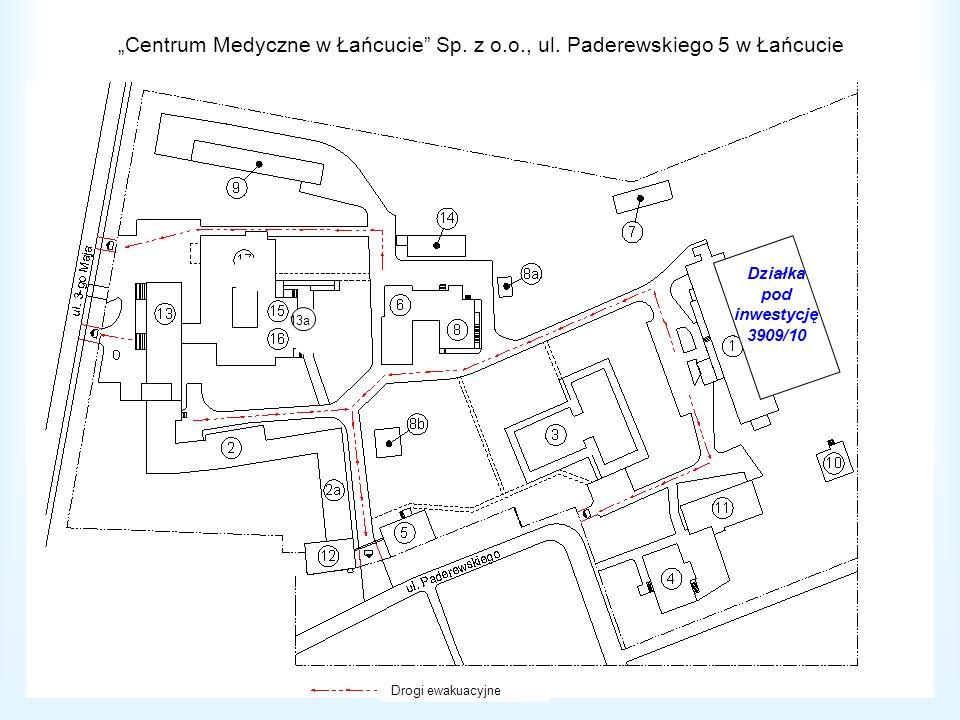 Centrum Medyczne w Łańcucie Sp. z o.o., ul. Paderewskiego 5 w Łańcucie 13a Działka pod inwestycję 3909/10 Drogi ewakuacyjne