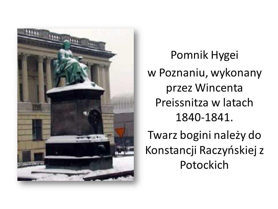 Pomnik Hygei w Poznaniu, wykonany przez Wincenta Preissnitza w latach 1840-1841. Twarz bogini należy do Konstancji Raczyńskiej z Potockich