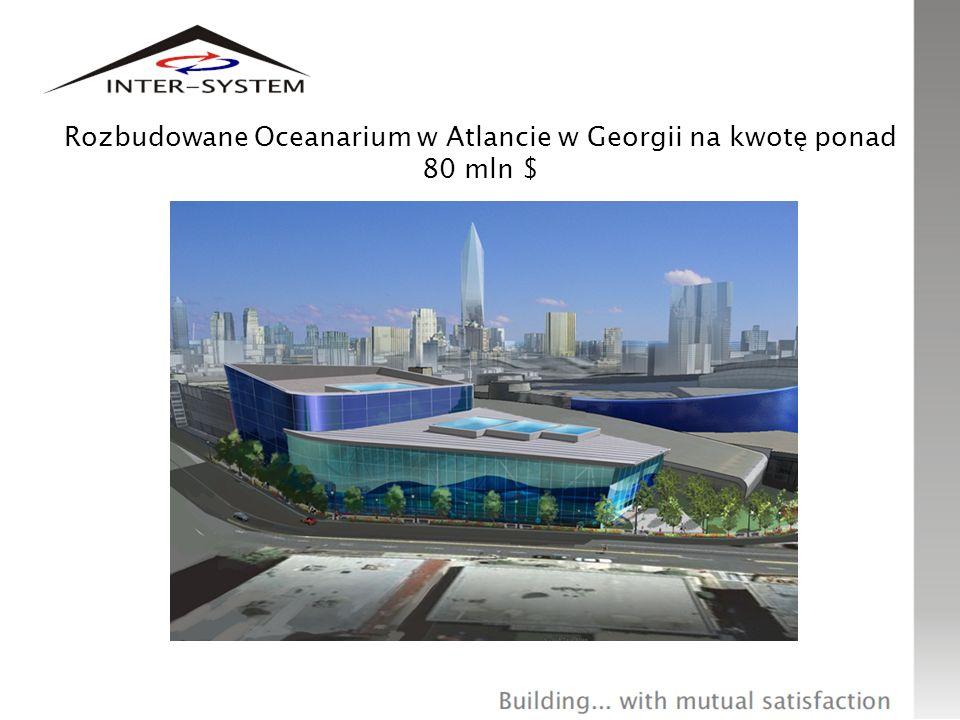 Rozbudowane Oceanarium w Atlancie w Georgii na kwotę ponad 80 mln $