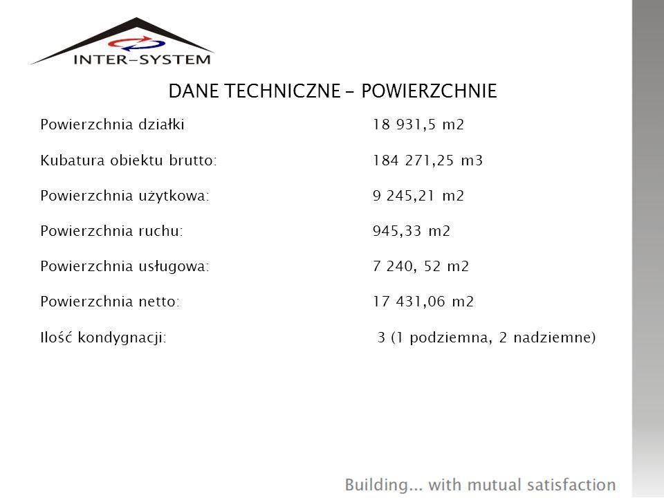 DANE TECHNICZNE: DŁUGOŚĆ, SZEROKOŚĆ, WYSOKOŚĆ Główny budynek: długość: 160,1 m szerokość: 53,9 m wysokość: 15-12 m Budynek statku: długość: 44,9 m – 55,8 m szerokość: 12,7 m – 15,3 m wysokość: 11,63 m - 9,35 m (od poziomu wody basenu zewnętrznego)