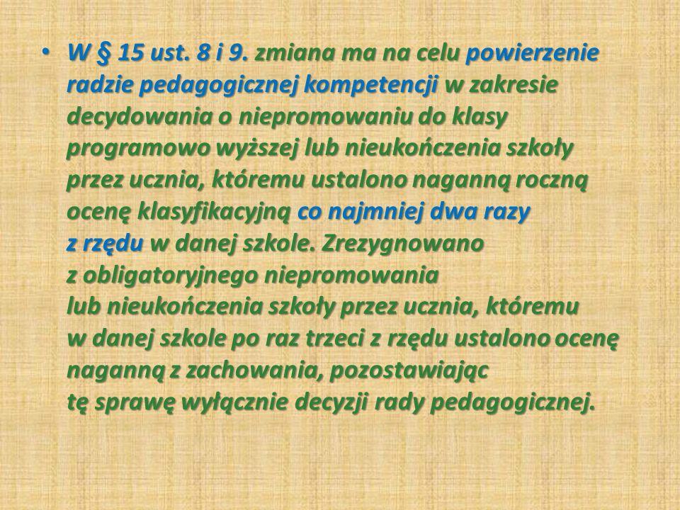 W § 15 ust.8 i 9.