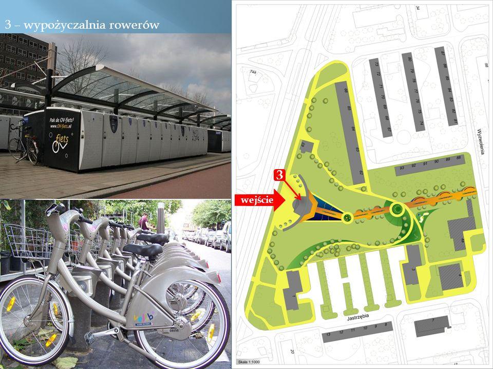 3 – wypożyczalnia rowerów 1 3 wejście