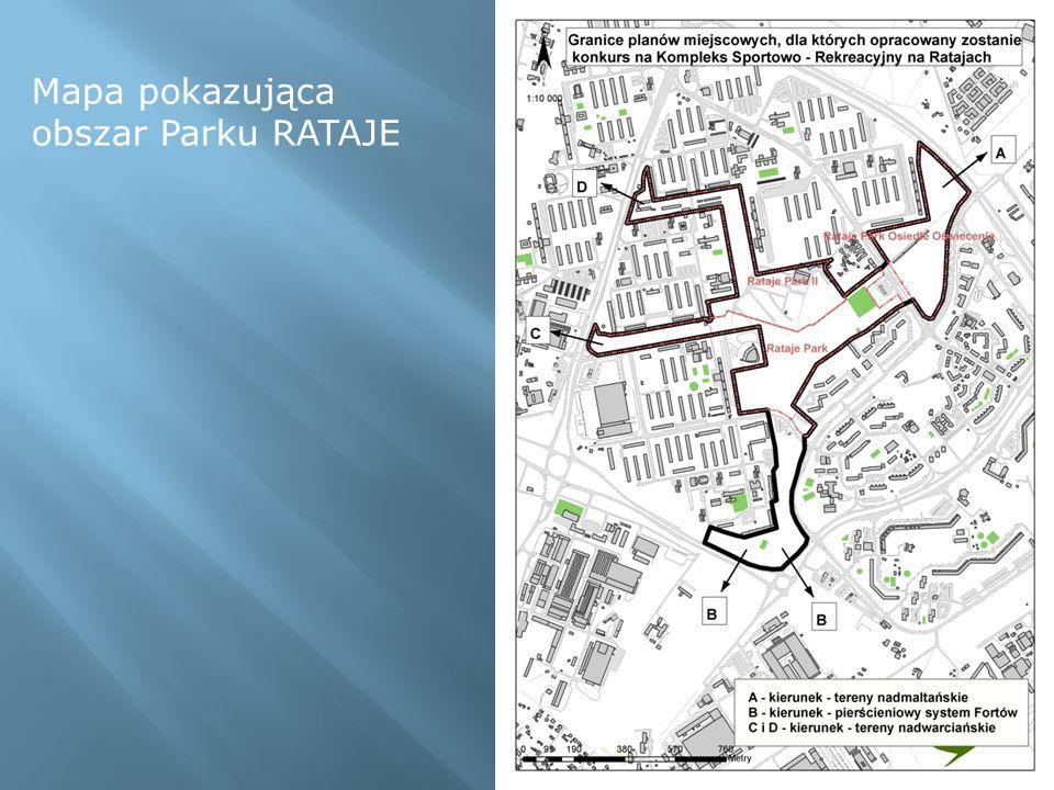 Punkt A tzw.brama północna - obszar Parku RATAJE II pomiędzy os.