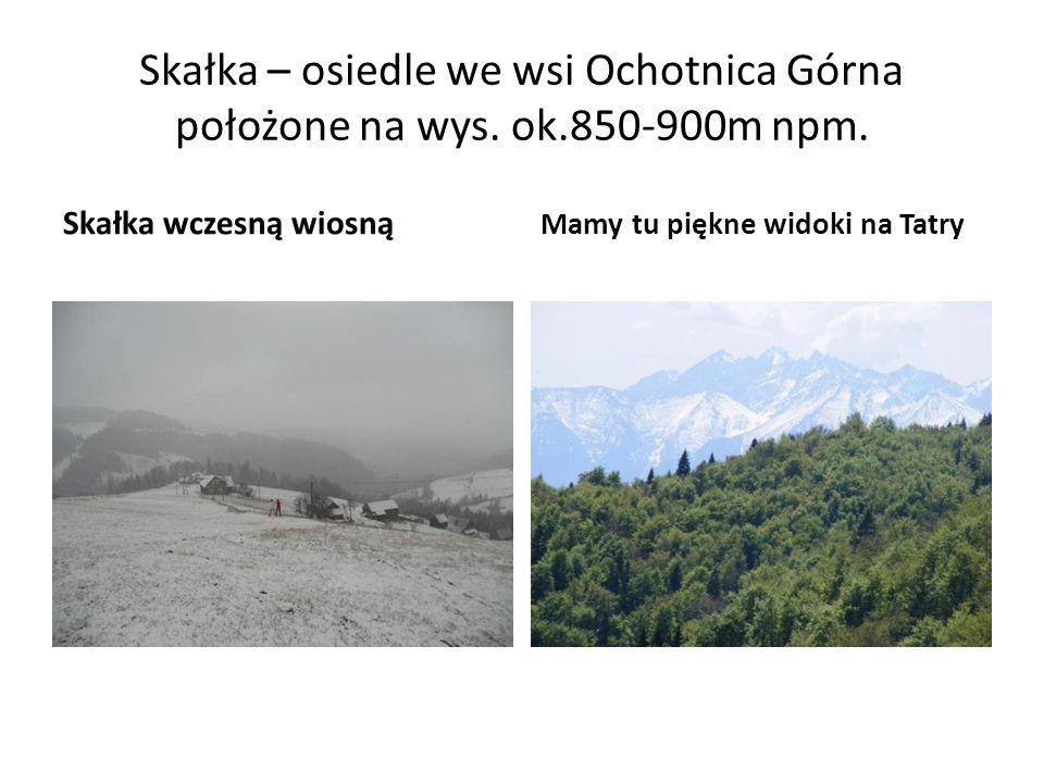 Skałka – osiedle we wsi Ochotnica Górna położone na wys. ok.850-900m npm. Skałka wczesną wiosną Mamy tu piękne widoki na Tatry