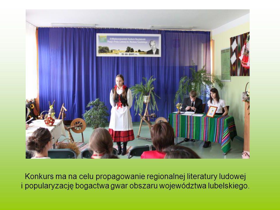 Konkurs ma na celu propagowanie regionalnej literatury ludowej i popularyzację bogactwa gwar obszaru województwa lubelskiego.
