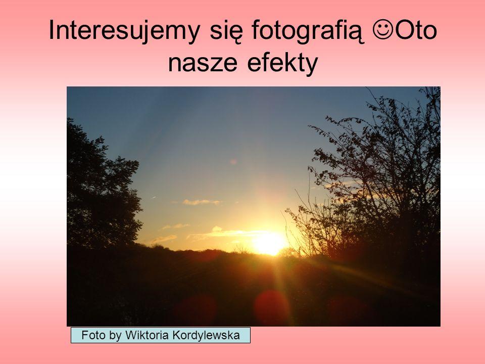 Interesujemy się fotografią Oto nasze efekty Foto by Wiktoria Kordylewska