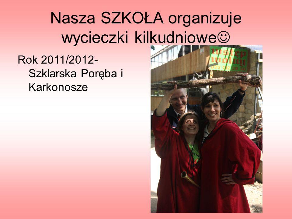 Nasza SZKOŁA organizuje wycieczki kilkudniowe Rok 2011/2012- Szklarska Poręba i Karkonosze