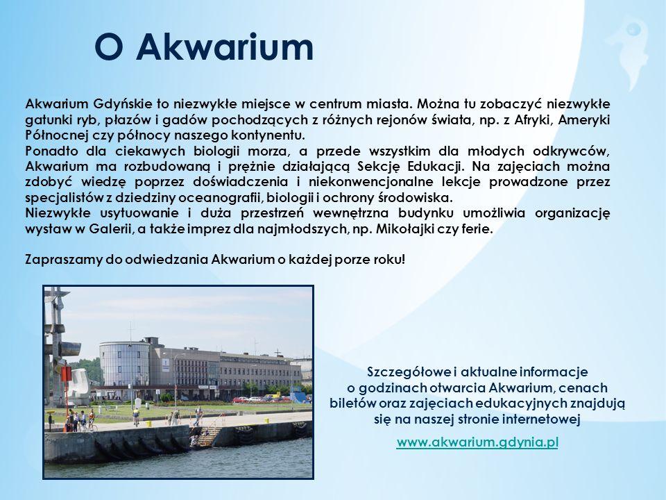 Historia Akwarium Akwarium Gdyńskie działa w Gdyni od 1971 roku.