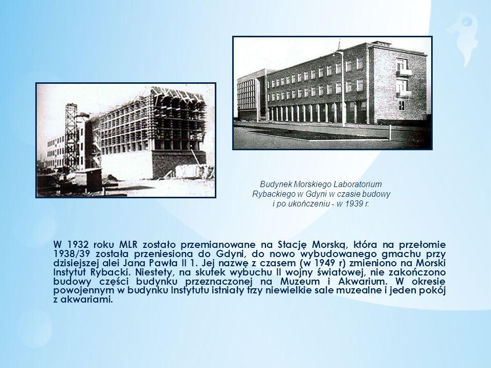 W 1932 roku MLR zostało przemianowane na Stację Morską, która na przełomie 1938/39 została przeniesiona do Gdyni, do nowo wybudowanego gmachu przy dzi