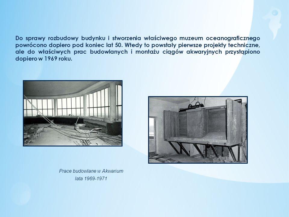 Do sprawy rozbudowy budynku i stworzenia właściwego muzeum oceanograficznego powrócono dopiero pod koniec lat 50. Wtedy to powstały pierwsze projekty