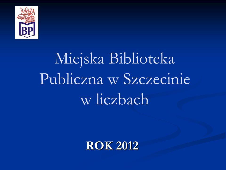 Miejska Biblioteka Publiczna w Szczecinie w liczbach ROK 2012